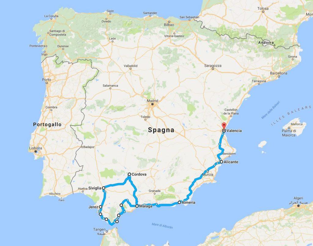 Cartina Spagna Marbella.Andalusia Tra Siviglia Valencia E Cordoba E Granada Toscani Viaggiatori
